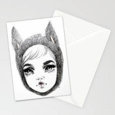 Cat burglar Stationery Cards