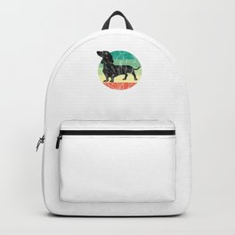 Cute Retro Dachshund Weiner Dog Mom Dog Dad Backpack