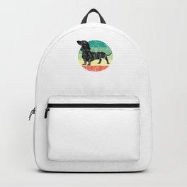 Cute Retro Dachshund Weiner Dog Mom Dog Dad Backpack