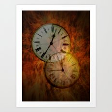 Burning time Art Print