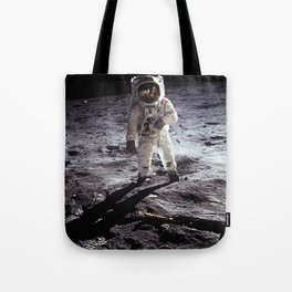 Apollo 11 - Iconic Buzz Aldrin On The Moon Tote Bag