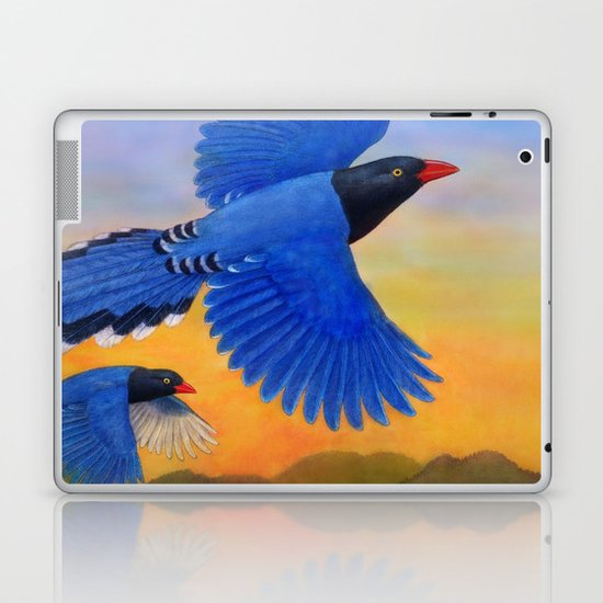 Taiwan Blue Magpie(1) Laptop & iPad Skin