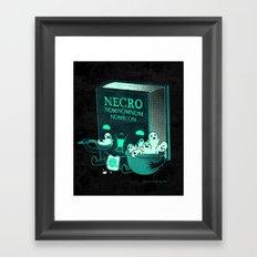 Necronomnomnomicon Framed Art Print
