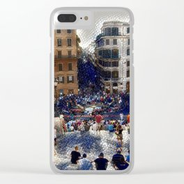 The Spanish Steps 4138 - Rome, Italy Clear iPhone Case