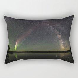 Milky Way and Steve Rectangular Pillow