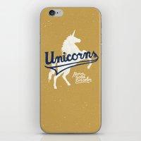 unicorns iPhone & iPod Skins featuring Unicorns by WEAREYAWN