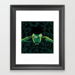 Mind-control powers in good use Framed Art Print