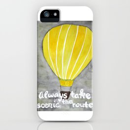 Yellow hot air balloon iPhone Case