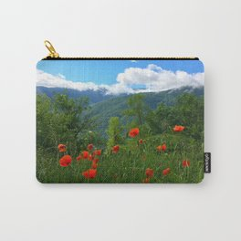 Wild poppies of the Pyrenees mountains Carry-All Pouch