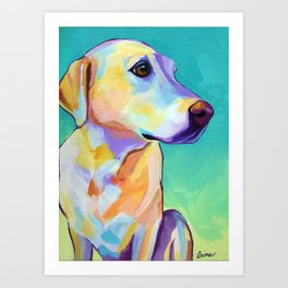 Ginger - Yellow Lab Art Print