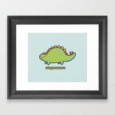 Stegosaurus Framed Art Print