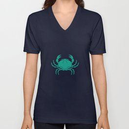 Cancer Zodiac / Crab Star Sign Poster Unisex V-Neck
