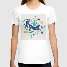 Modern Shapes / Panther and Palm T-shirt
