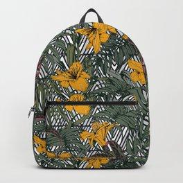 Tribal tropical bloom Backpack