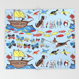 The Voyage of the Beagle Throw Blanket