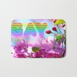 gay flowers Bath Mat