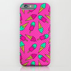 Colorful pattern of ice cream in pop art style Slim Case iPhone 6s
