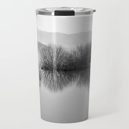 Lakescape in bw Travel Mug