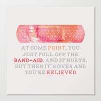 looking for alaska Canvas Prints featuring Looking For Alaska: Bandaid by lsmyang