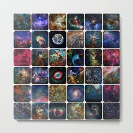 The Amazing Universe - Collection of Satellite Imagery Metal Print