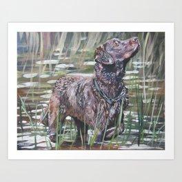 the Chesapeake Bay Retriever dog art from an original painting by L.A.Shepard Art Print