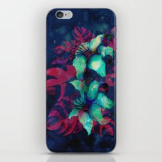 Tropical Flower - Blue Lilly iPhone & iPod Skin