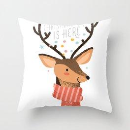 Christmas time has come Throw Pillow