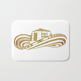 Colombian Sombrero Vueltiao in Gold Leaf Style Bath Mat