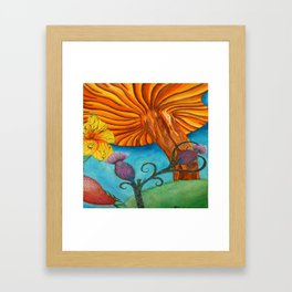 Lion Hearted Framed Art Print
