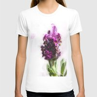 lavender T-shirts featuring Lavender by Carmen Lai Graphics