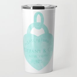 Tiffany heart locket charm Travel Mug