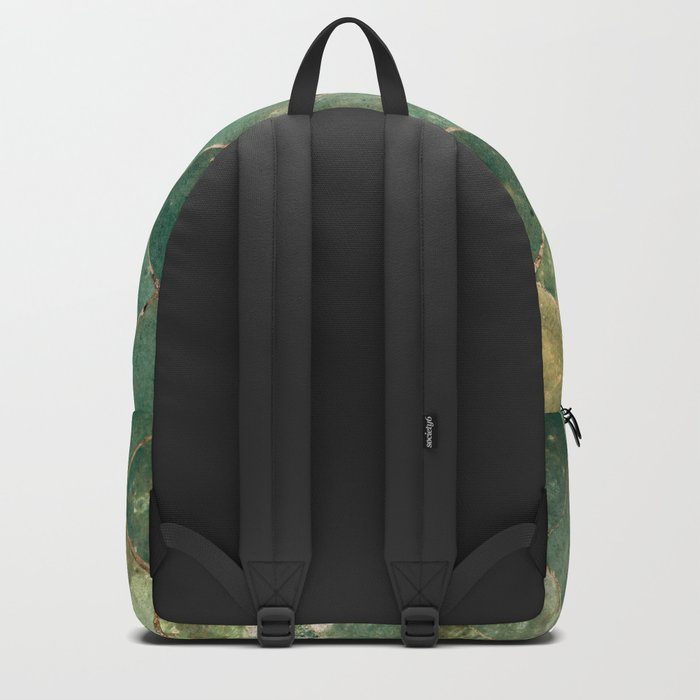 Green Moroccan Pattern Tile Backpack