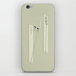 Clothespin shotgun iPhone Skin