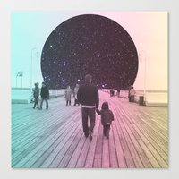 walk the moon Canvas Prints featuring Moon Walk by Cale potts Art
