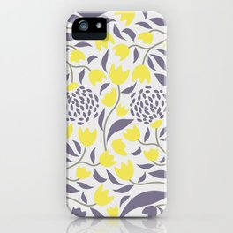 Yellow flowers field iPhone Case