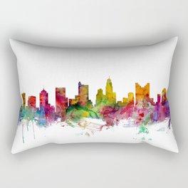 Columbus Ohio Skyline Rectangular Pillow