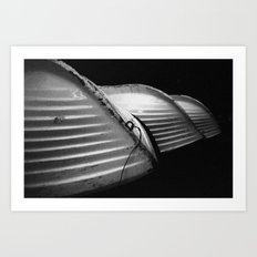 Row Boats 1 Art Print
