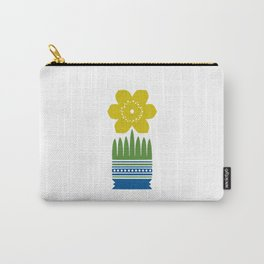 Nordic Yellow Flower Carry-All Pouch