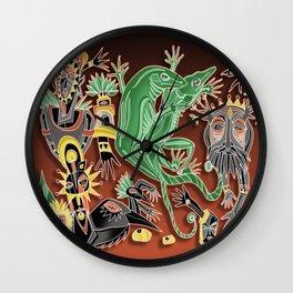 dancing geckos Wall Clock