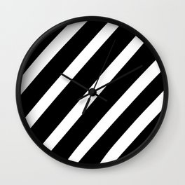 Black'n'White Stripes Wall Clock