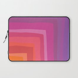 Vivid Vibrant Geometric Rainbow Laptop Sleeve