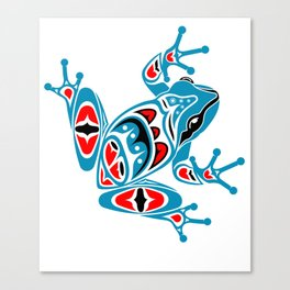 Frog Pacific Northwest Native American Indian Style Art Canvas Print