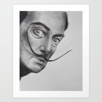 salvador dali Art Prints featuring Salvador Dali by Lucy Ford