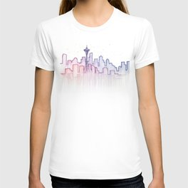Seattle Skyline Watercolor T-shirt