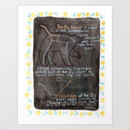 Big Dipper and Ursa Major Art Print