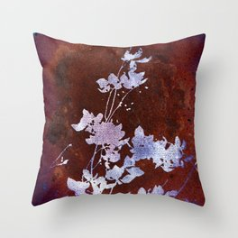 Flaming Flowers Throw Pillow