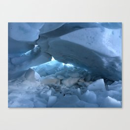 ICE CAVES Canvas Print