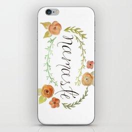 Namaste Floral Watercolor iPhone Skin