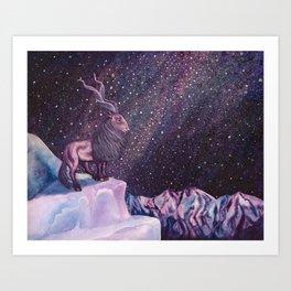 Milky Way Markhor Art Print