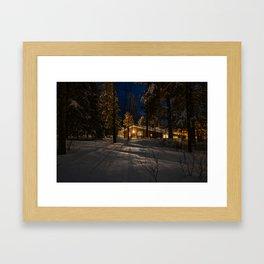 The Snowy Retreat Framed Art Print